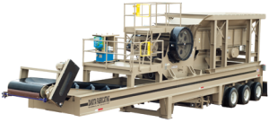 Portable Jaw Crusher with feeder and under conveyor