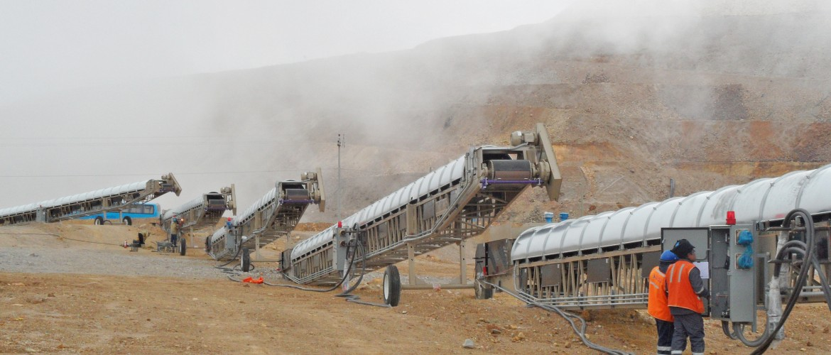 Grasshopper Conveyors at Escobal Mine