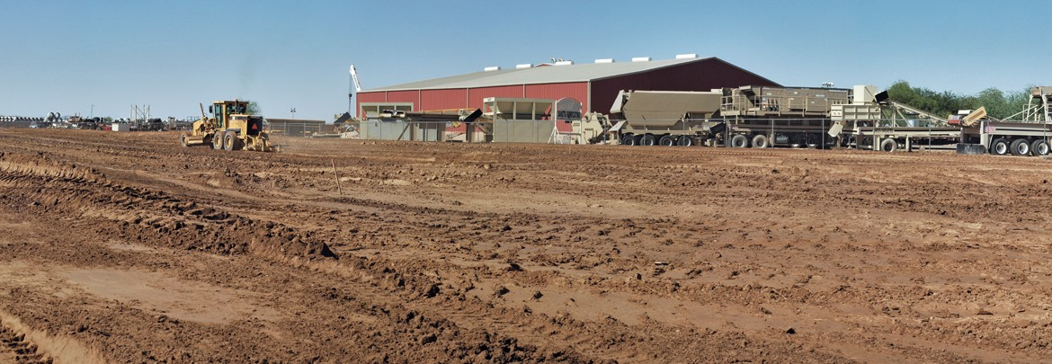 Breaking ground on Dakota's new production facility.